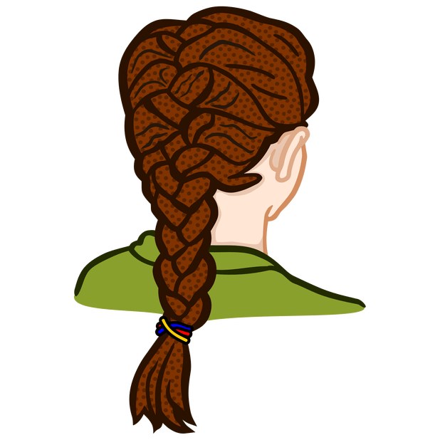 Cartoon braid cartoonview co. Hair clipart plaited