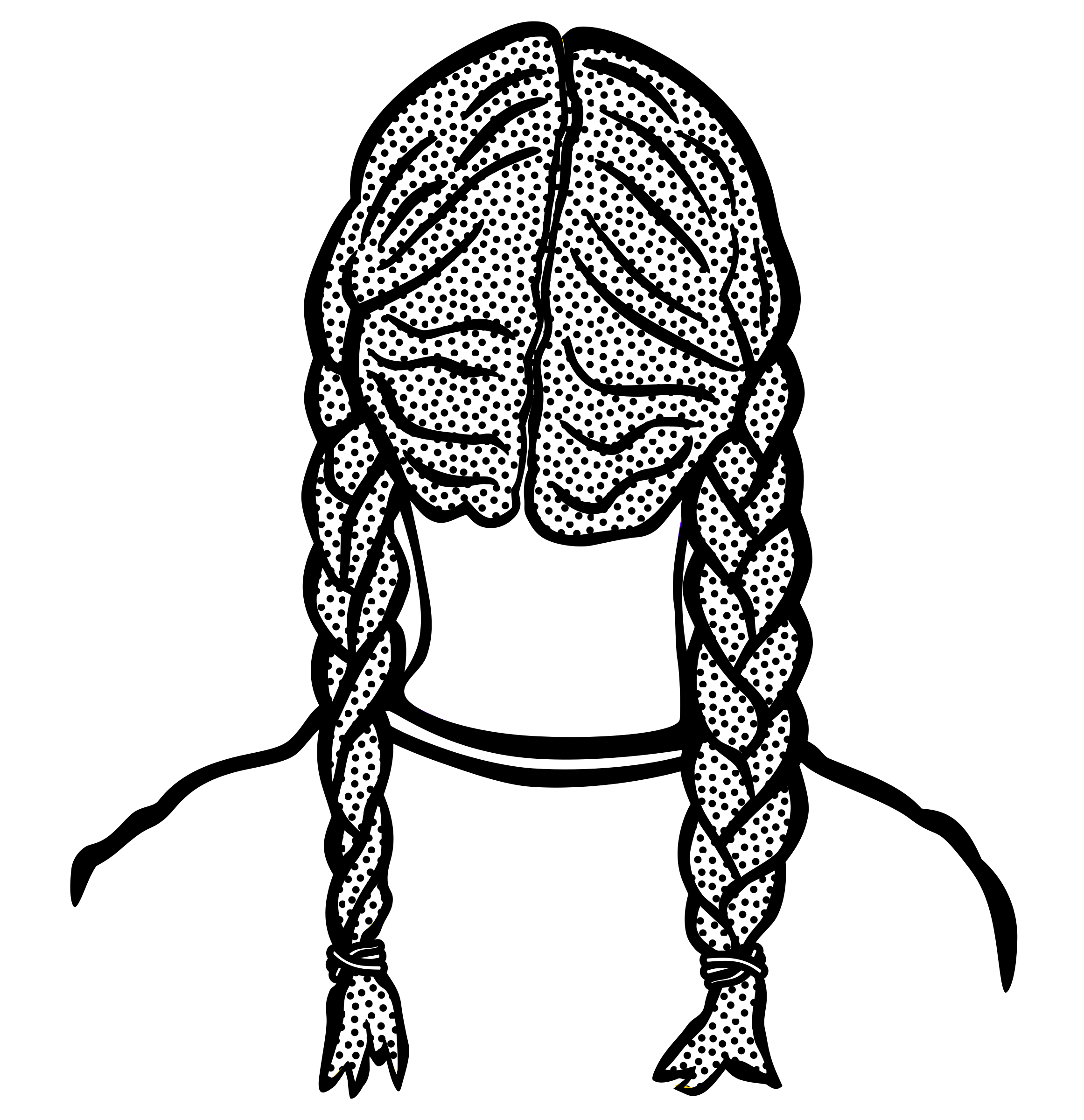 Braids drawing at getdrawings. Hair clipart plaited