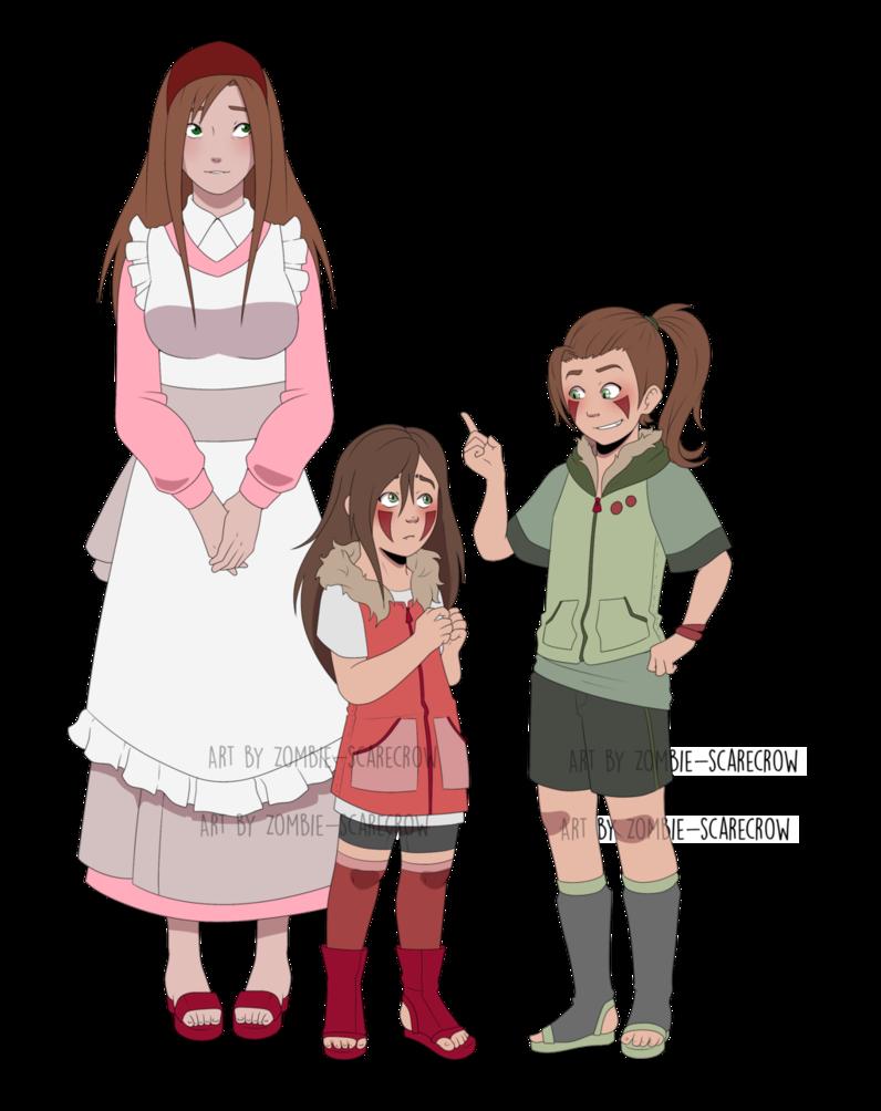 Zombie clipart zombie family. Inuzuka by one legged