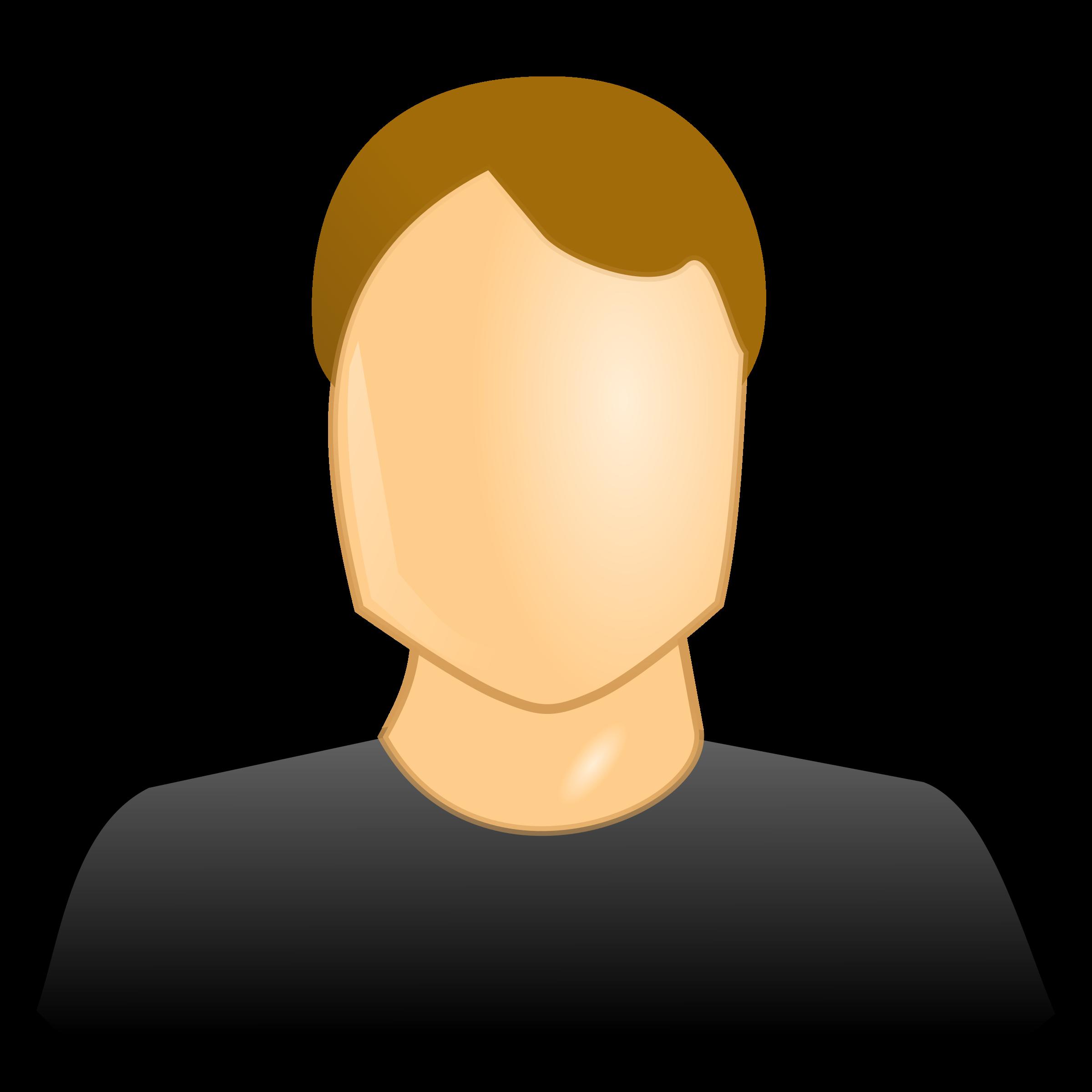User icon big image. Patient clipart male patient