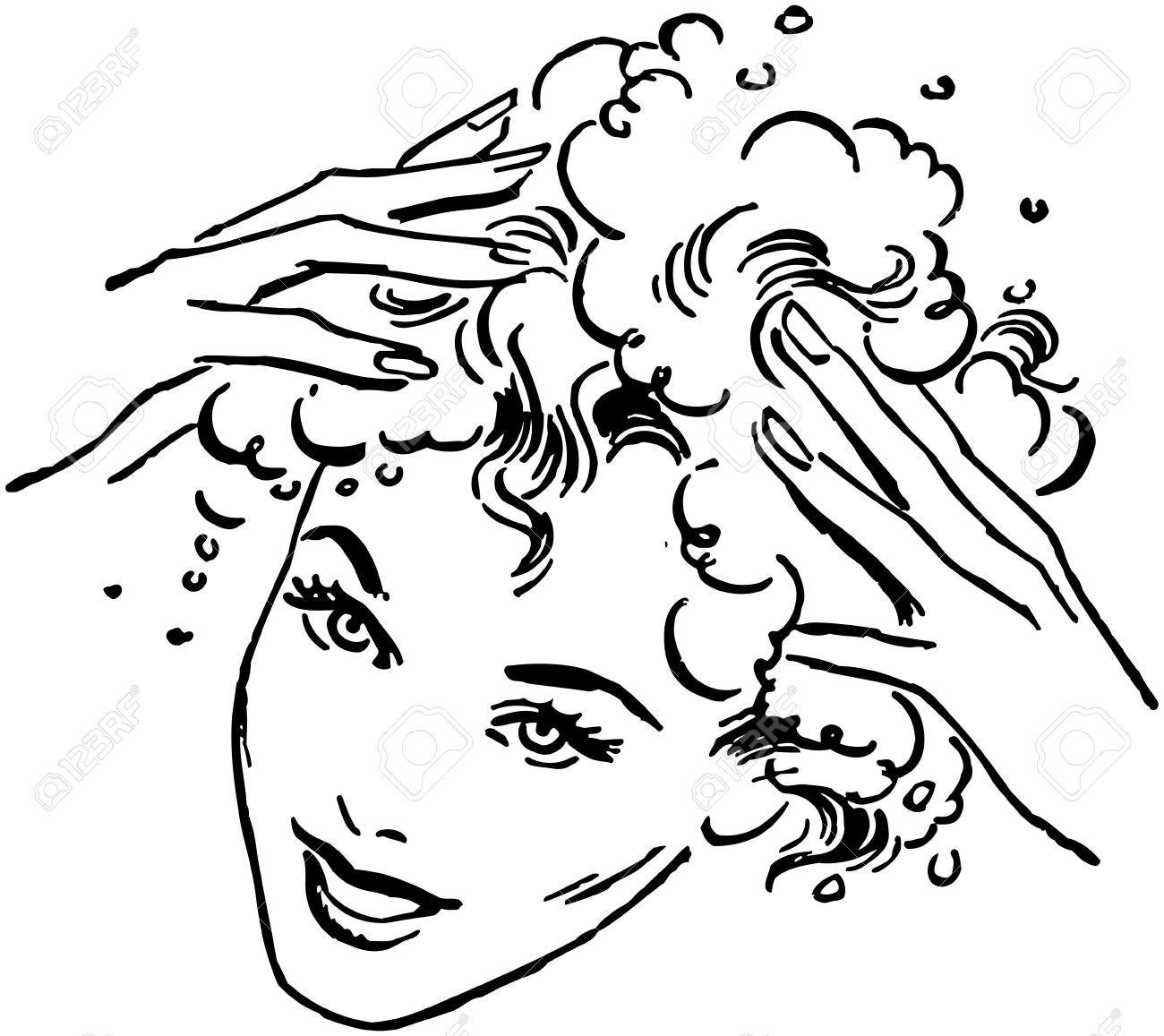 Haircut clipart hair hygiene. Stock vector stuff in