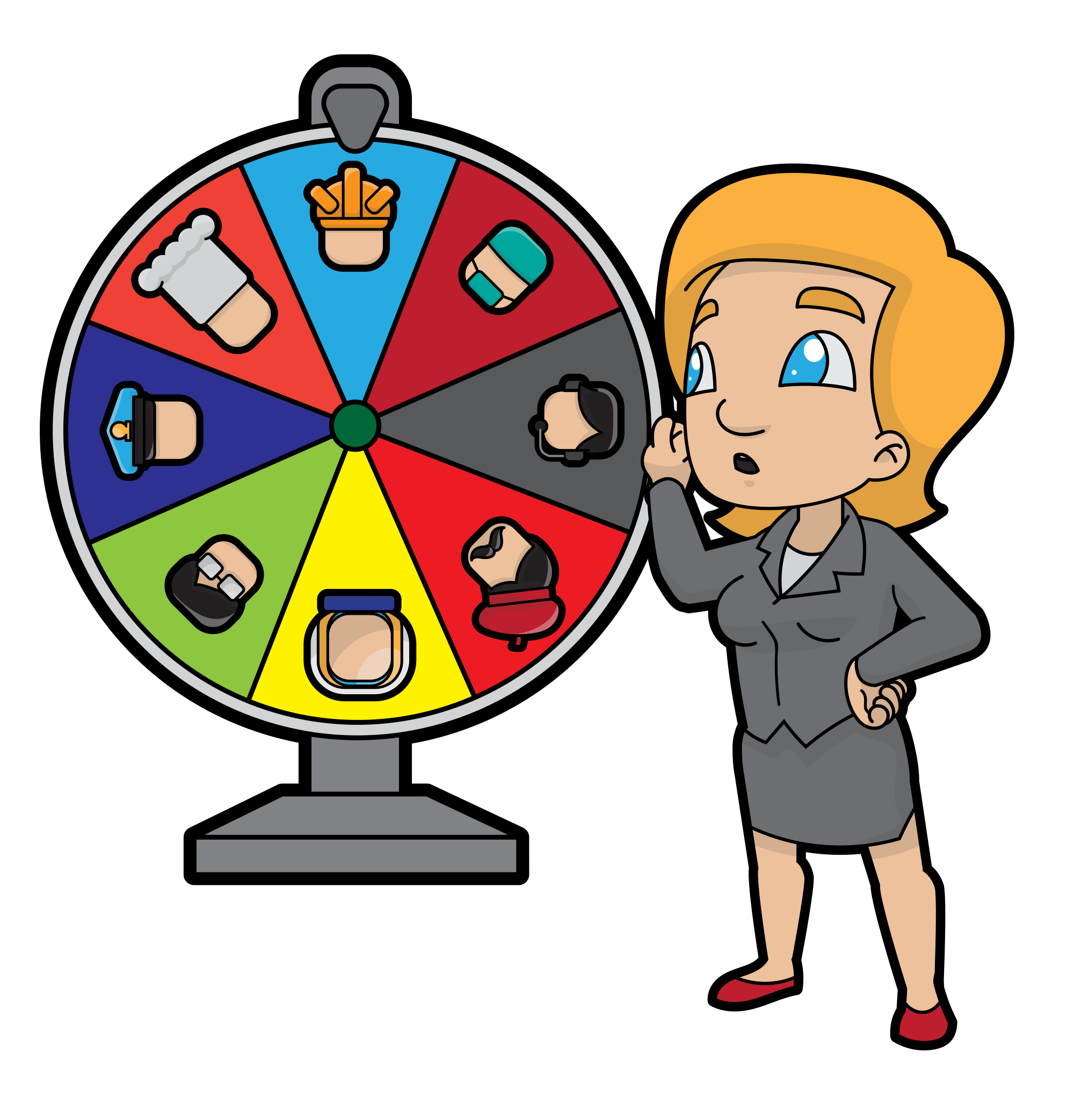 File cartoon woman changing. Working clipart career