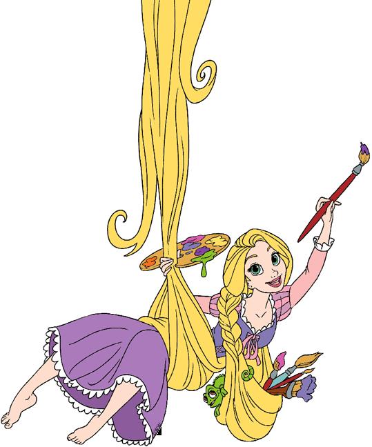 Rapunzel clipart paint brush. Tangled clip art disney