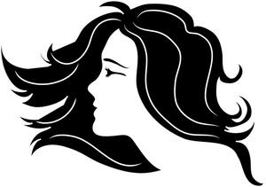 Hair clipart women's hair. Clip art of black