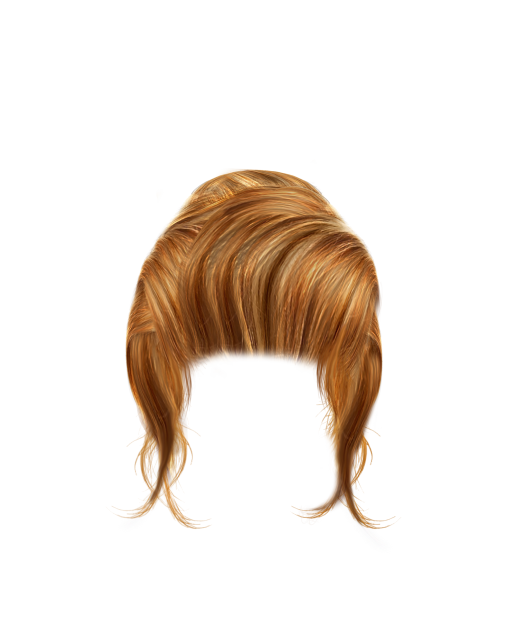 One isolated stock photo. Hair clipart women's hair