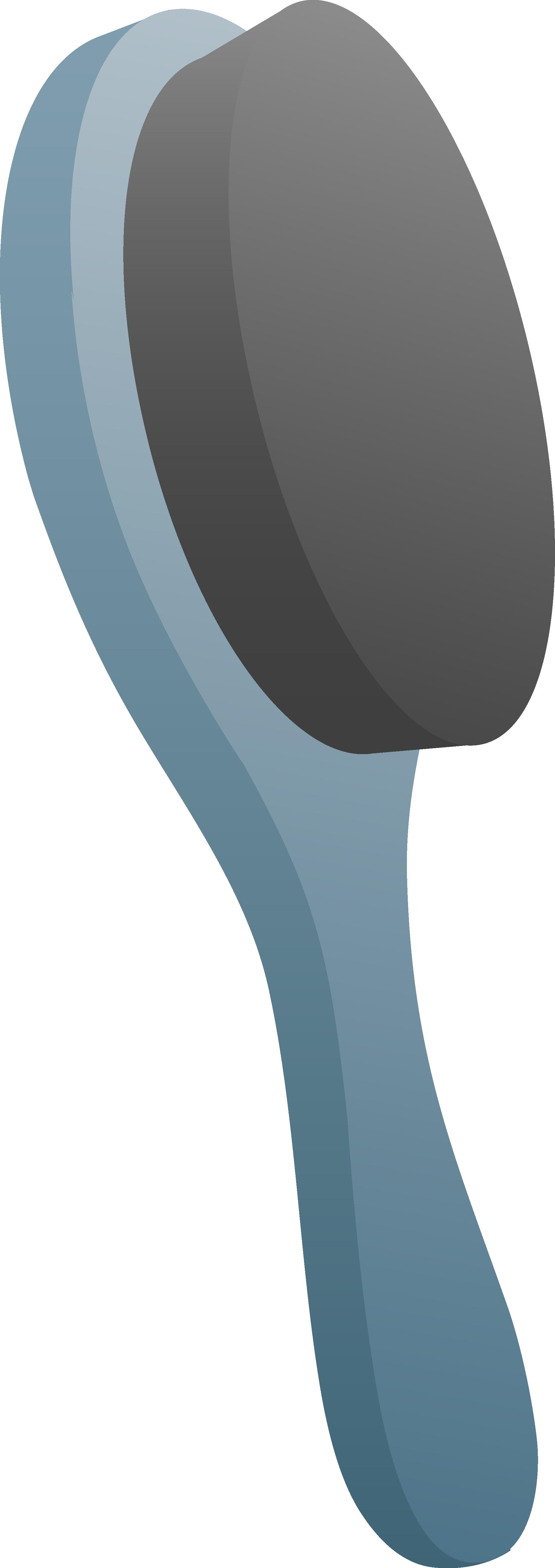 Blue soft hair brush. Comb clipart cartoon