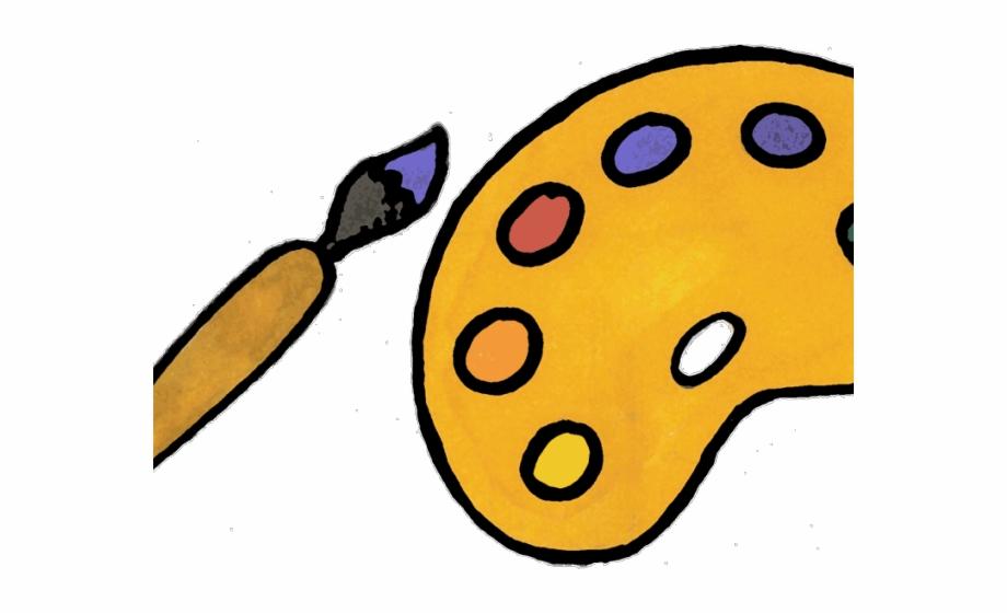 Painting cartoon paint brush. Hairbrush clipart animated