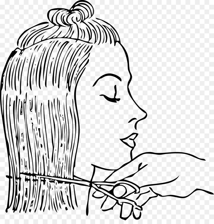 Haircut clipart. Comb beauty parlour hairdresser
