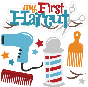 Haircut clipart. My first boy cuttable