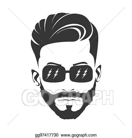 Haircut clipart. Stock illustrations men hairstyle