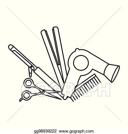 Haircut clipart accessory. Vector illustration flat design