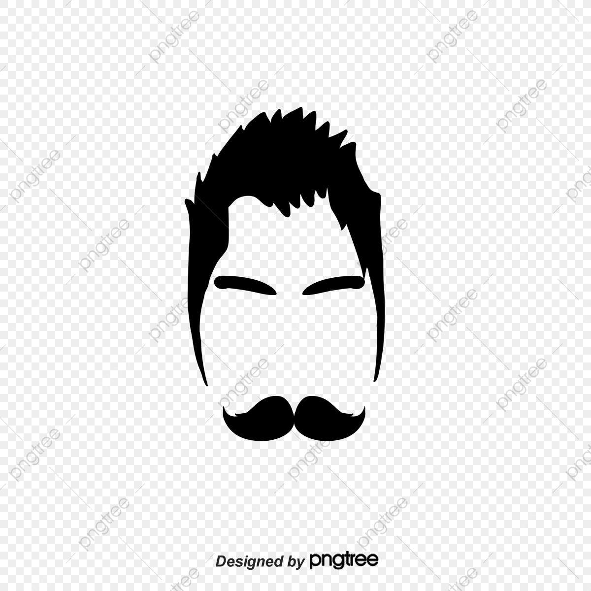 Logo mens barber shop. Haircut clipart black and white