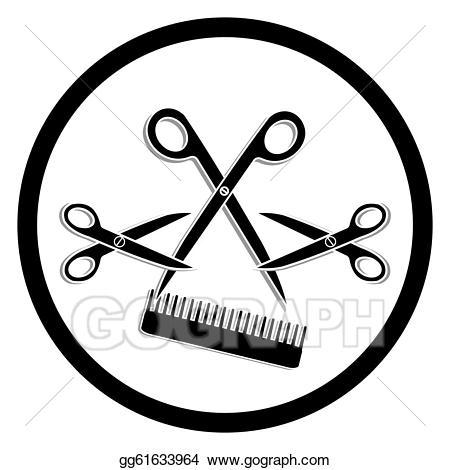 Stock illustration or hair. Haircut clipart salon