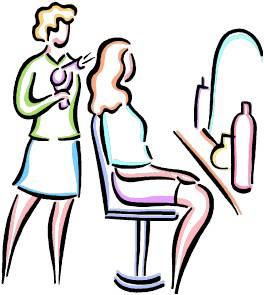 Hairdresser clipart. Salon clip art borders