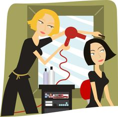 collection of hairdressers. Hairdresser clipart