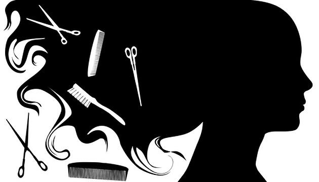 Hair salon black and. Hairdresser clipart