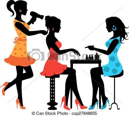 Hairdresser clipart. Clip art salon woman