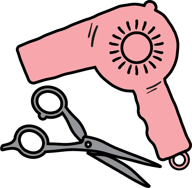 Hairdresser icon hair dryer. Conflict clipart corporation