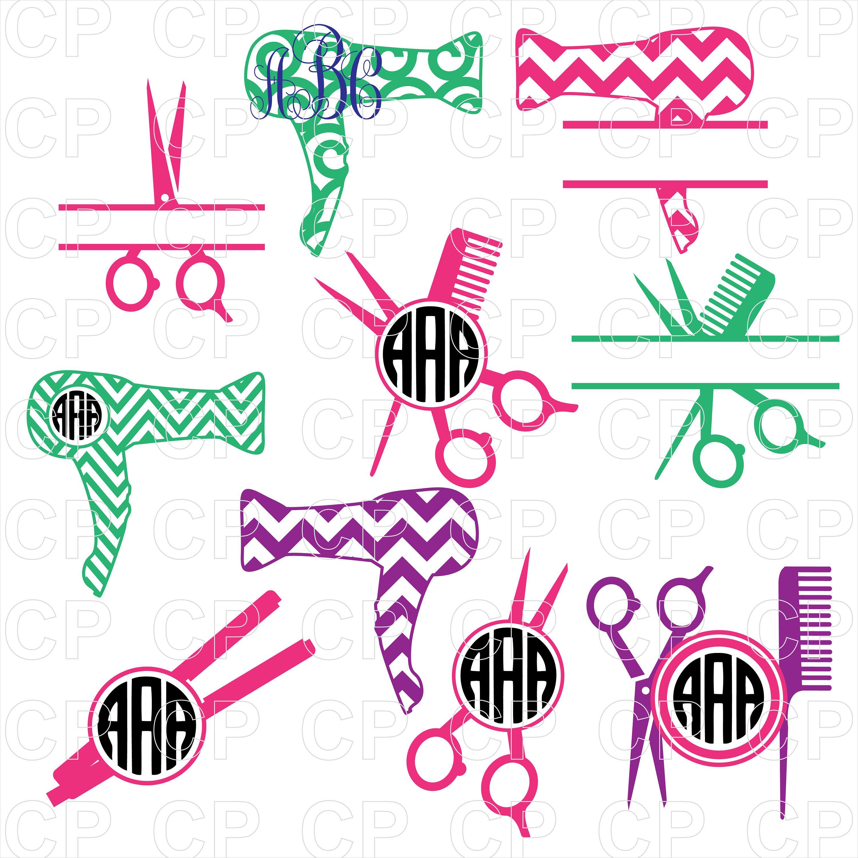 Hairdresser clipart item. Svg cut files