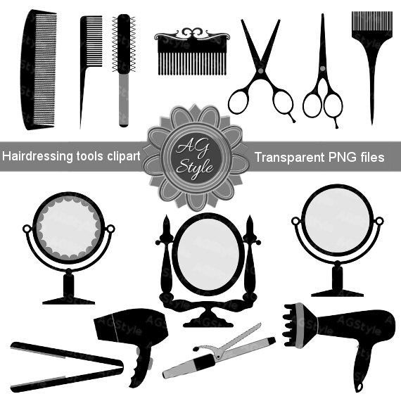 Pin by a graphicstyle. Hairdresser clipart utensil