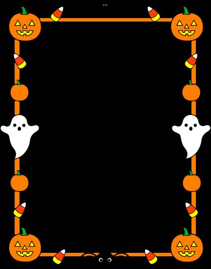 Halloween border png. Clip art cute frame