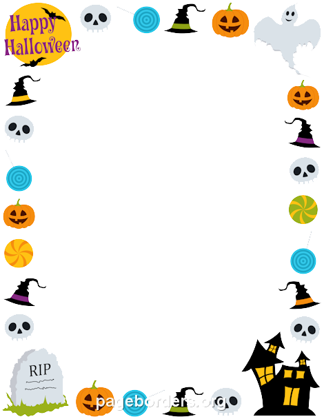Transparent mart. Halloween border png