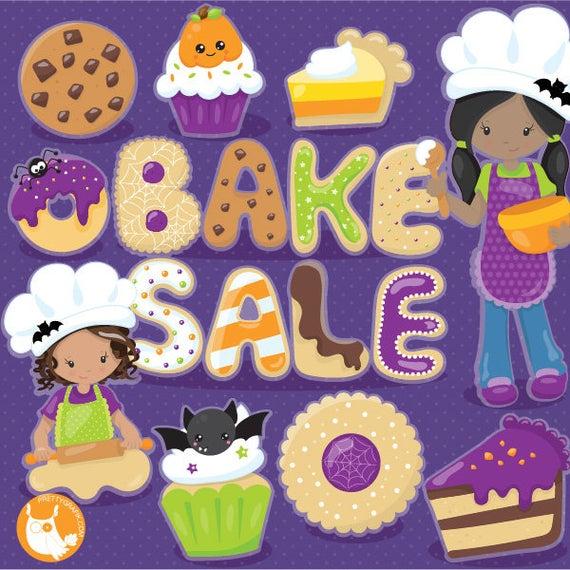 Buy get dessert treats. Halloween clipart bake sale