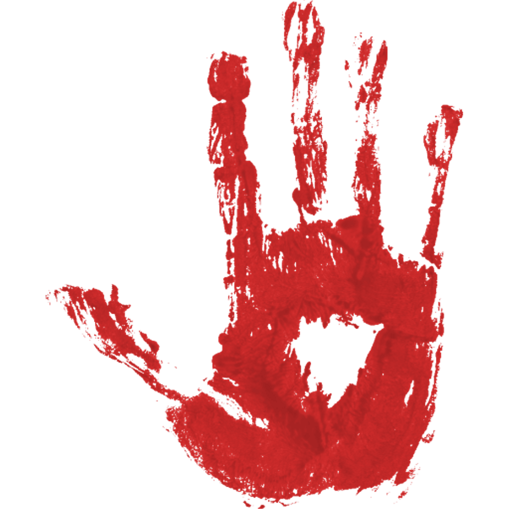 Blood hand print pgntree. Handprint clipart bloody