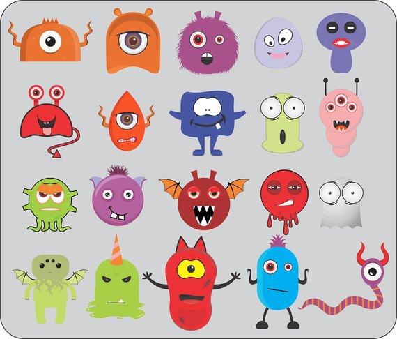 Halloween clipart character. Monster mash creator kit