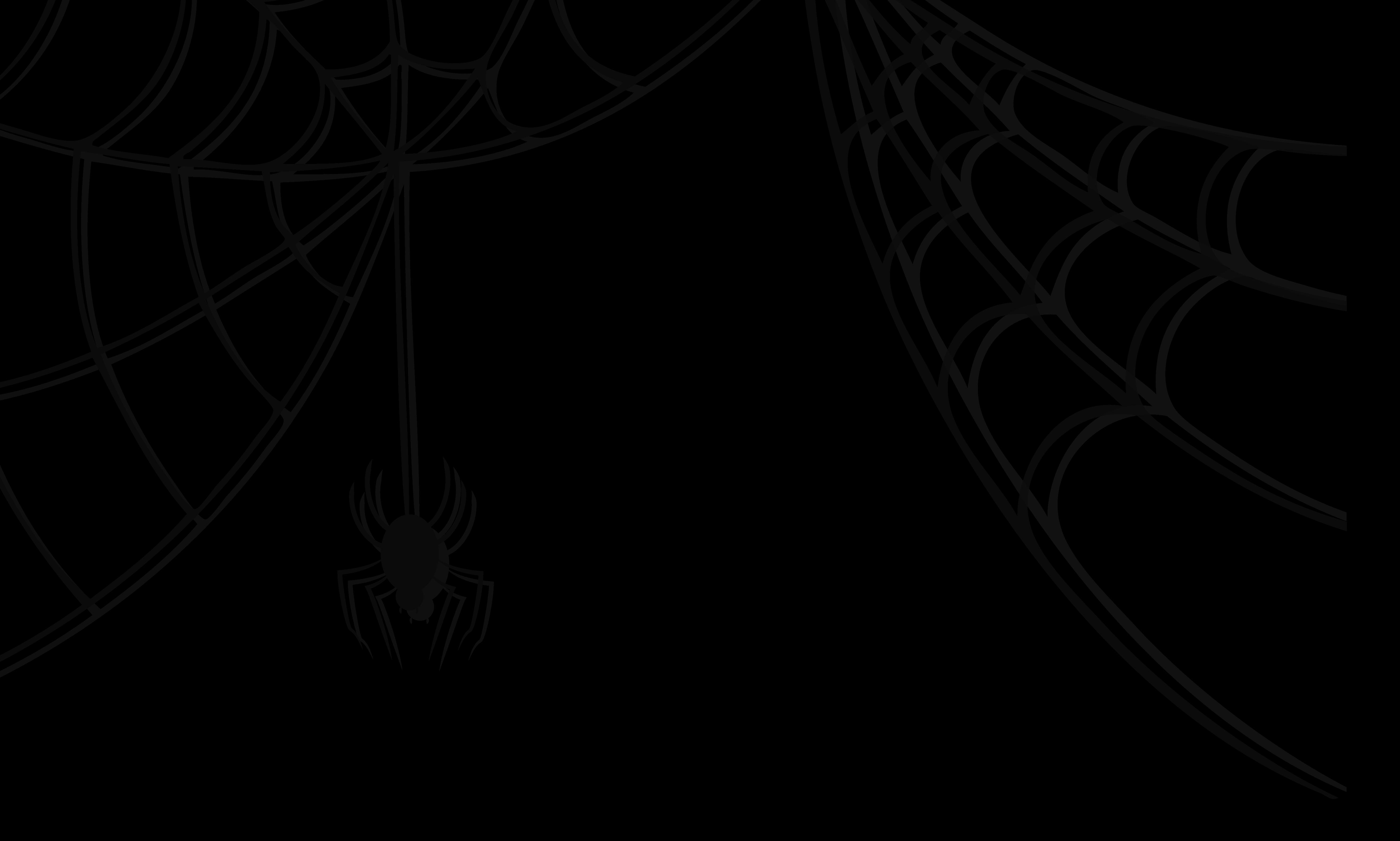Halloween clipart corner.  collection of spider
