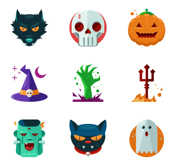 scary packs vector. Halloween clipart icon