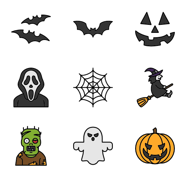 Halloween clipart icon.  packs vector svg