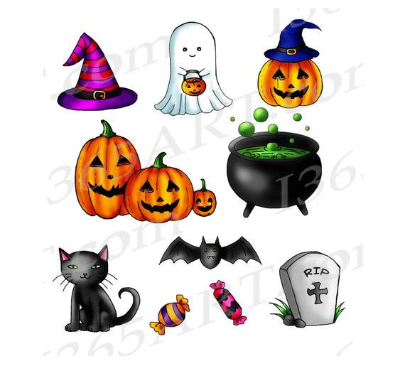 Cute clip art digital. Halloween clipart printable