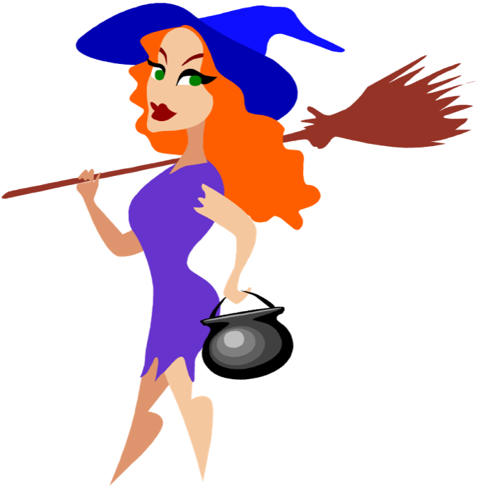 Purple clipart halloween. Witch broom free of