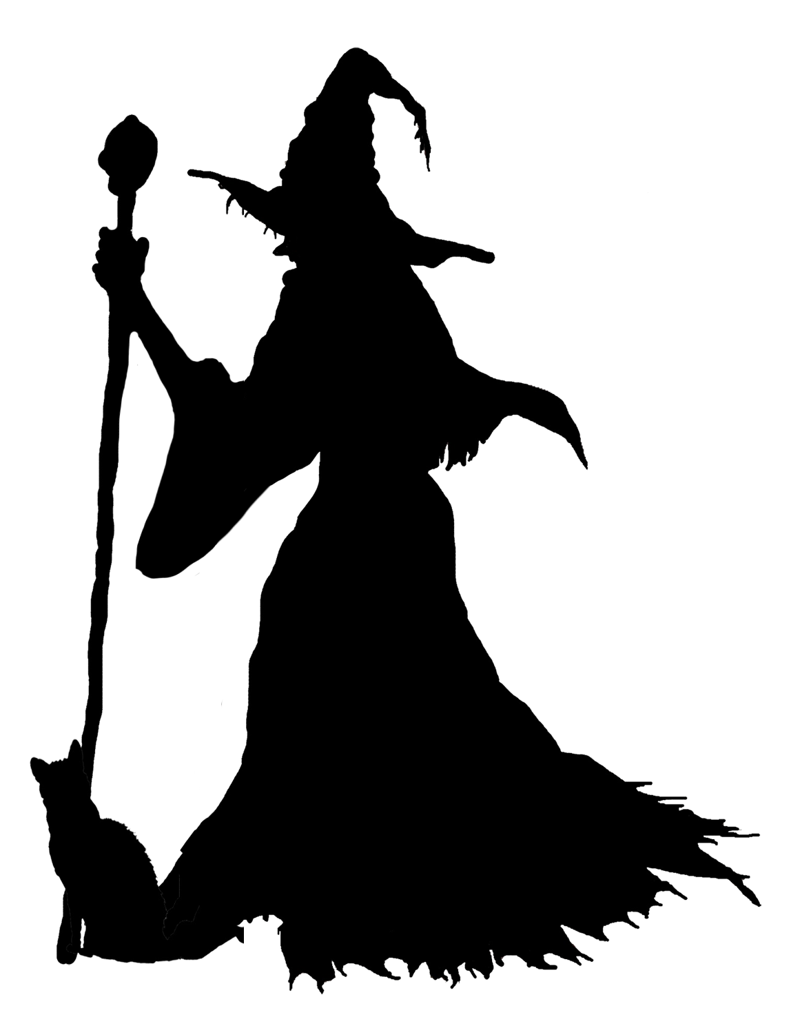 Witches silhouette at getdrawings. Witch clipart black cat