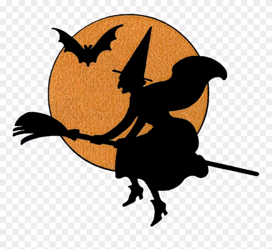 Witch clipart clear background. Halloween transparent