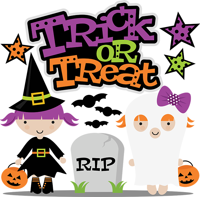 Trick or svg cut. Halloween clipart treat