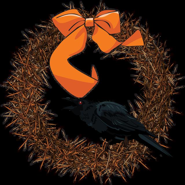 Clip art arts for. Halloween clipart wreath