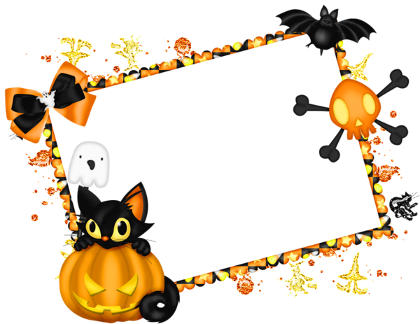 Halloween frame png. Free download transparent photo