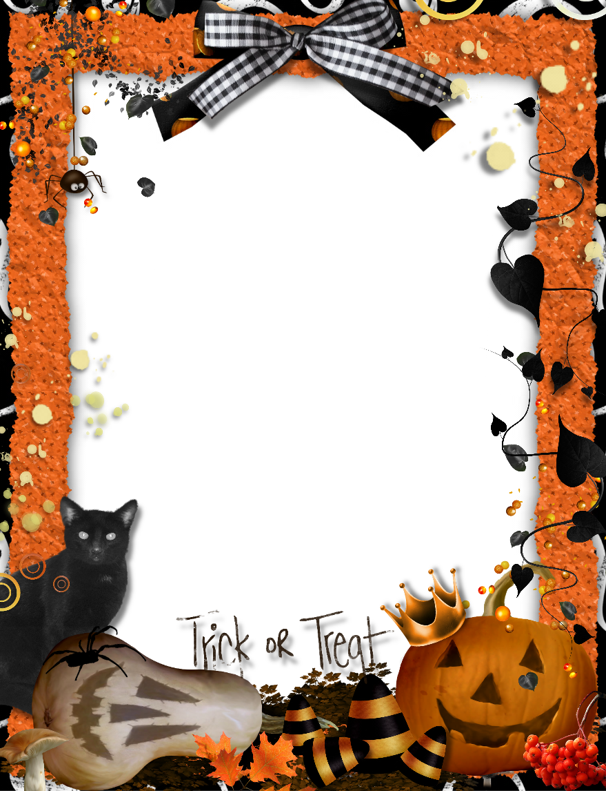 Orange photo gallery yopriceville. Halloween frame png