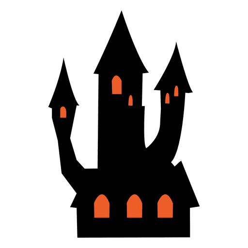 Halloween house png. Haunted transparent svg vector