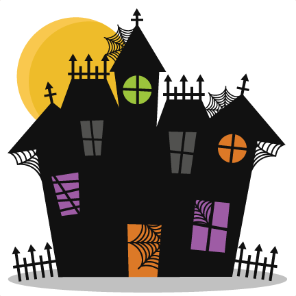 Haunted svg cutting files. Halloween house png