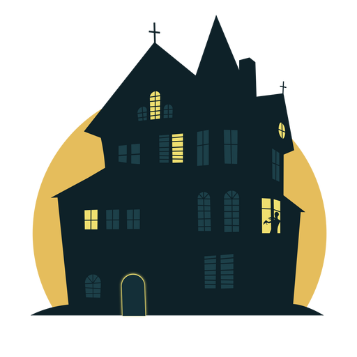 Halloween house png. Scary transparent svg vector
