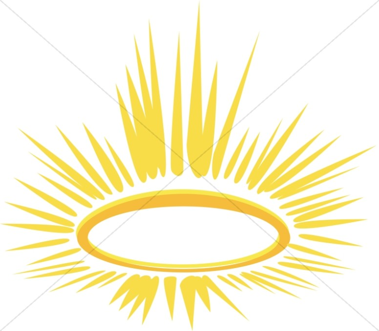 Halo clipart. Glowing religious christmas