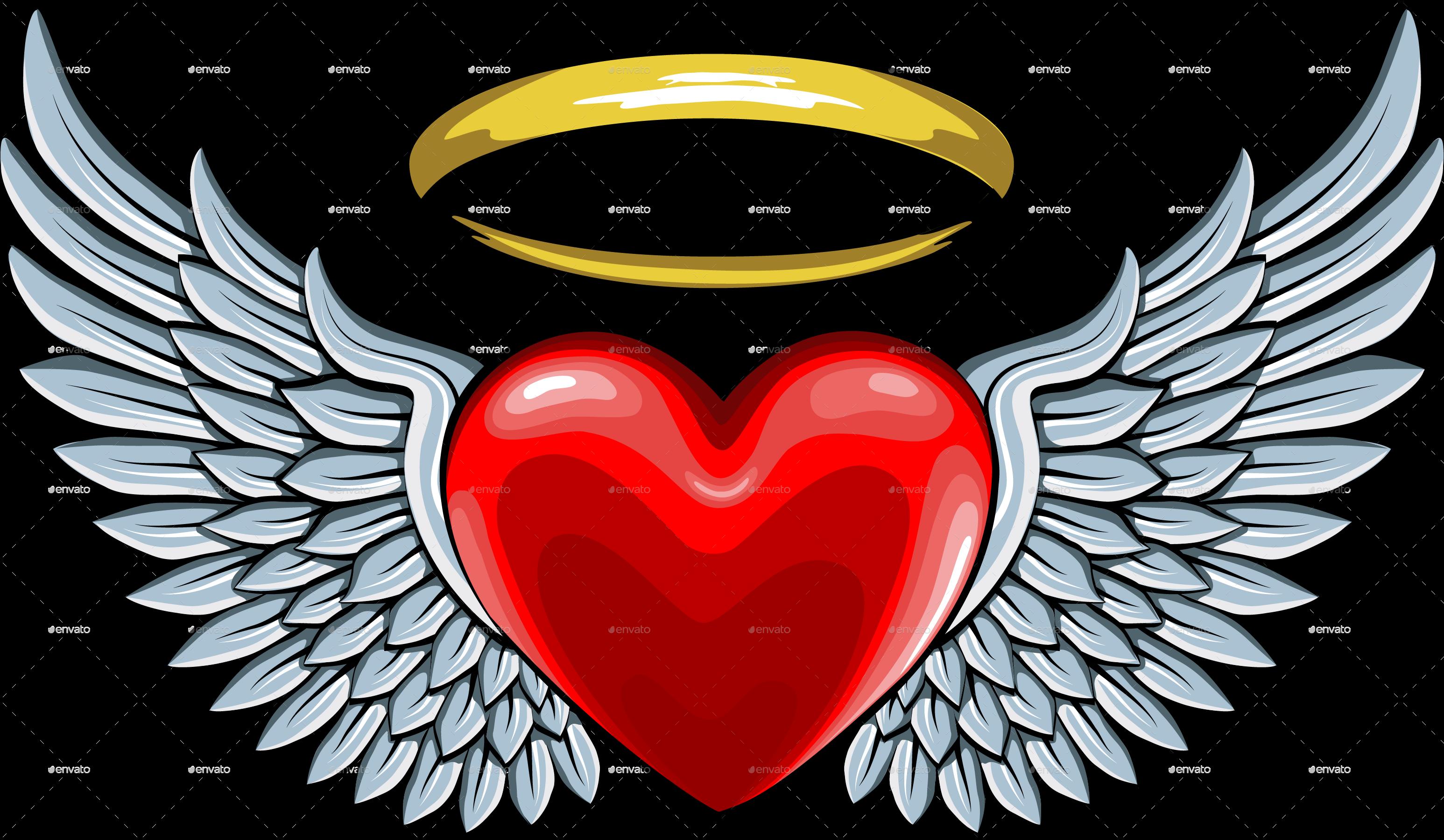 Wing clipart heart. V sledok vyh ad