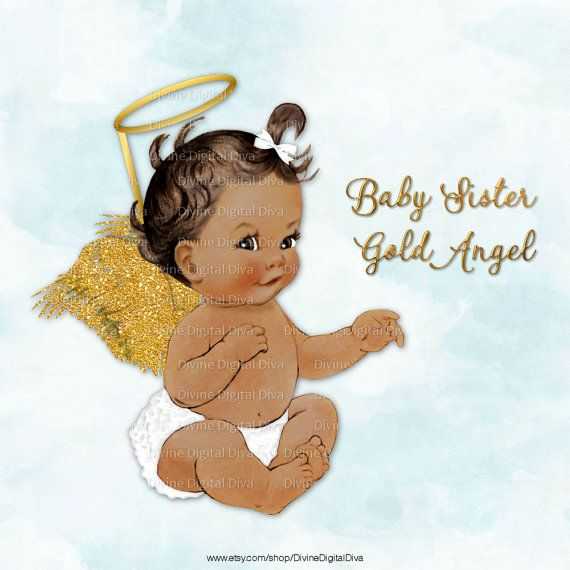 Angel with white ruffle. Halo clipart baby