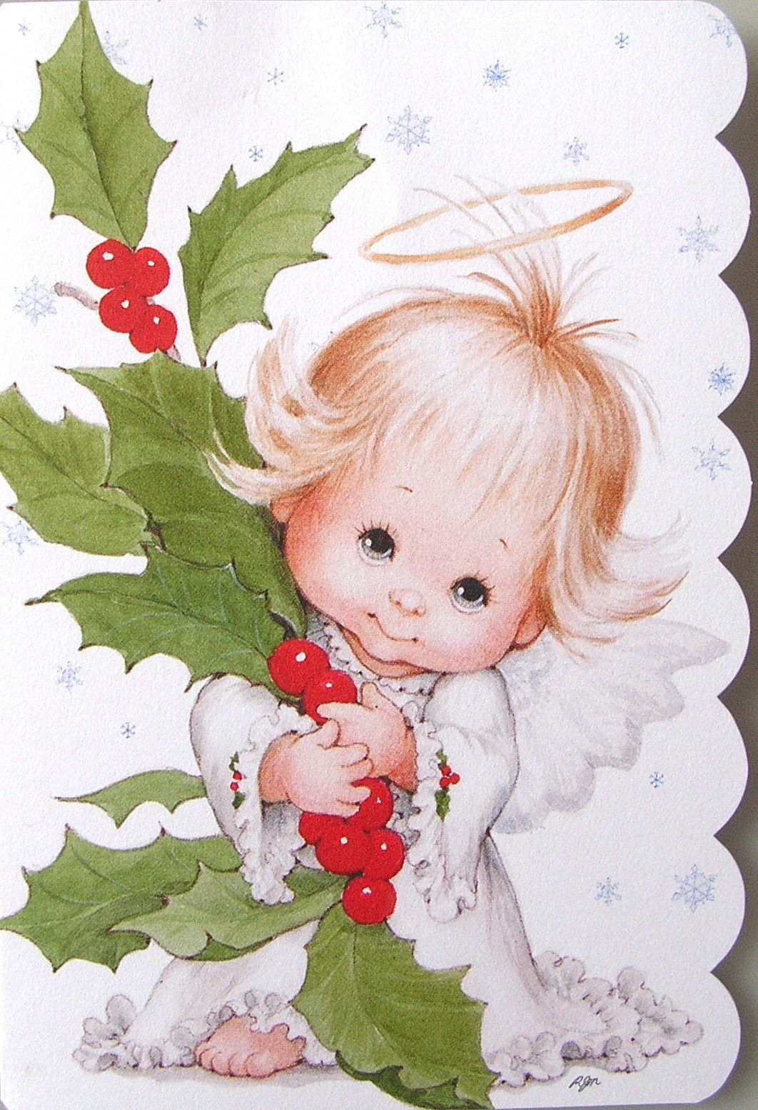 Morehead baby child holly. Halo clipart christmas angel
