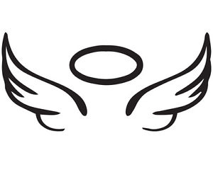 Details about angel wing. Halo clipart decal