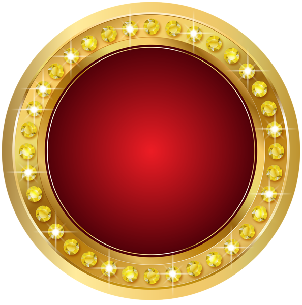 Seal gold red png. Mirror clipart golden mirror
