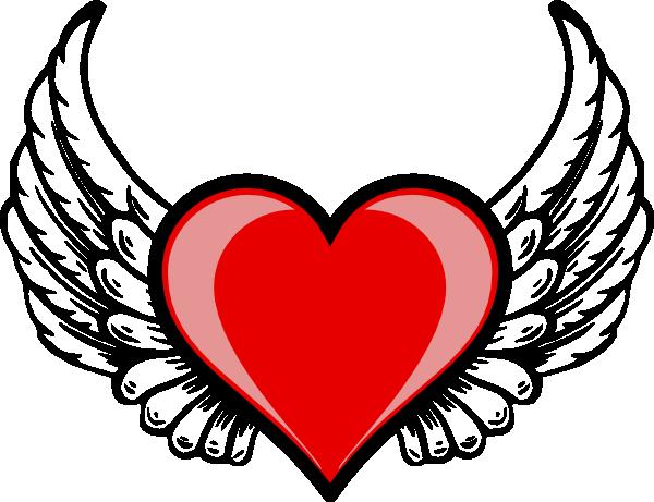 Wing clipart cupid wings. Heart logo clip art